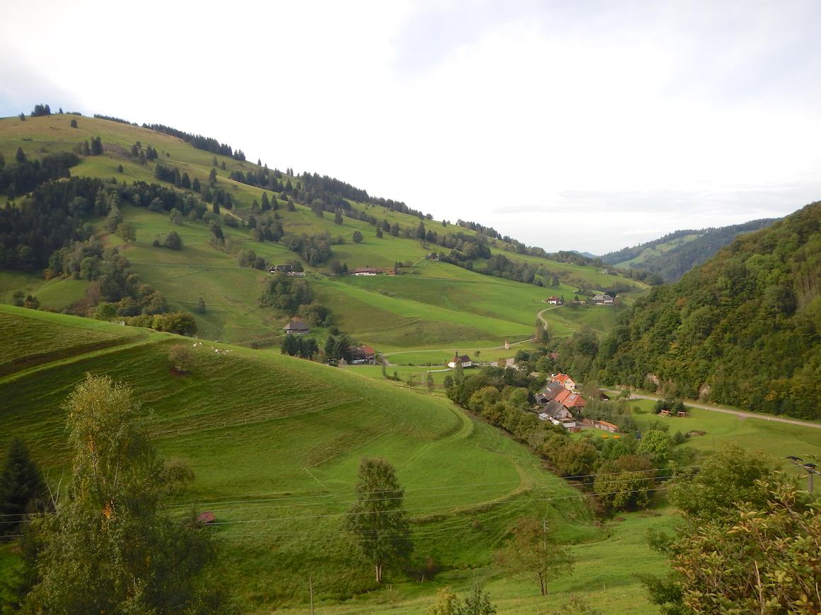 Eisenbahnplatte. Kitschig. Schön. Schwarzwaldpanorama.