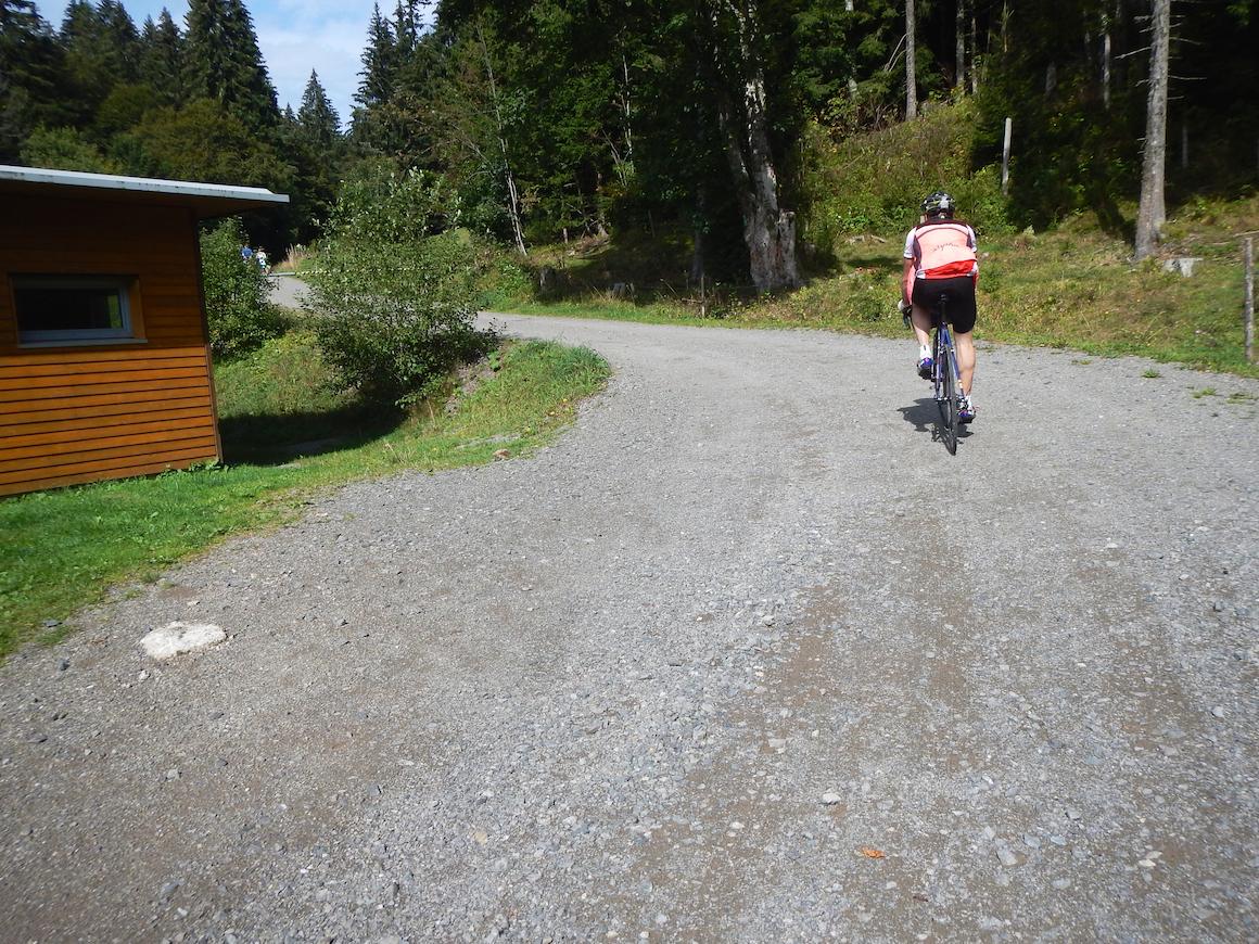100 m Gravelracing am Belchen
