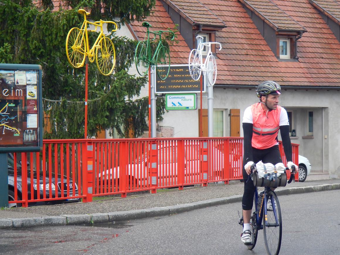 Auch in Guebwiller ist die Tour de France allgegenwärtig.